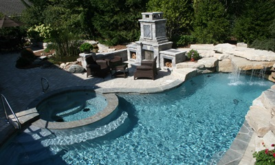 architects specialising in swimming pools landscape design architecture franklin hardscape