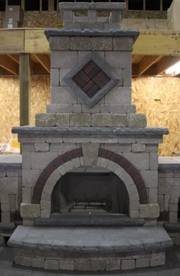 Custom Outdoor Kitchen and Fire Place Design Franklin